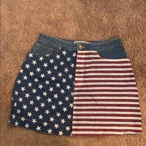 American Apparel, American Flag Denim Skirt